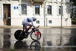 Ellen van Dijk (NED) of Team Netherlands digs deep during the prologue of the Lotto Thuringen Ladies Tour - a 6.1 km individual time trial, starting and finishing in Gera on July 12, 2017, in Thuringen, Germany. (Photo by Balint Hamvas/Velofocus.com)