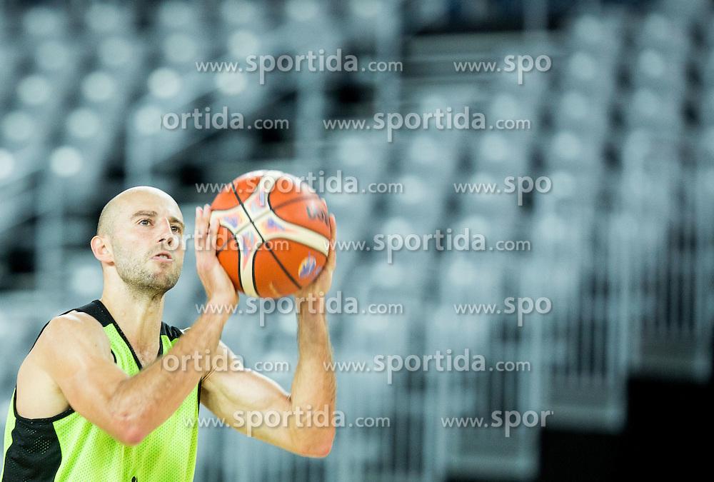 Nebojsa Joksimovic during practice session of Slovenia National Basketball Team 1 day prior to the FIBA Europe Eurobasket 2015, on September 4, 2015, in Arena Zagreb, Croatia. Photo by Vid Ponikvar / Sportida