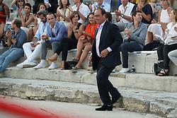 July 21, 2017 - Arles, FRANCE - Francois Hollande en Arles  presente sa fondation la france s engage a la 6ieme edition les napoleons (Credit Image: © Panoramic via ZUMA Press)