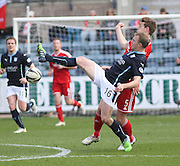 Dundee's David Clarkson and Aberdeen&rsquo;s Ash Taylor - Dundee v Aberdeen, SPFL Premiership at Dens Park<br /> <br />  - &copy; David Young - www.davidyoungphoto.co.uk - email: davidyoungphoto@gmail.com