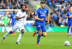 Jacques Maghoma of Birmingham City competes with Callum Paterson of Cardiff City - Mandatory by-line: Nizaam Jones/JMP - 10/03/2018 -  FOOTBALL -  Cardiff City Stadium- Cardiff, Wales -  Cardiff City v Birmingham City - Sky Bet Championship