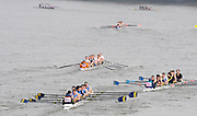 Putney/Barnes,  Great Britain, 314 Queen Mary University, 313. Wolfson College and 312 Bradford on Avon. Barnes Rail Bridge.  - 2008 Head of the River Race. Raced from Mortlake to Putney, over the Championship Course.  15/03/2008  [Mandatory Credit. Peter Spurrier/Intersport Images] Rowing Course: River Thames, Championship course, Putney to Mortlake 4.25 Miles,