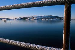 SWEDEN FJALLBACKA JAN04 - Ice-covered railing in Fjallbacka harbour.. . jre/Photo by Jiri Rezac. . © Jiri Rezac 2004. . Contact: +44 (0) 7050 110 417. Mobile:  +44 (0) 7801 337 683. Office:  +44 (0) 20 8968 9635. . Email:   jiri@jirirezac.com. Web:    www.jirirezac.com.