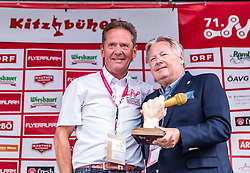 11.07.2019, Kitzbühel, AUT, Ö-Tour, Österreich Radrundfahrt, Siegerehrung der 5. Etappe, von Radstadt nach Fuscher Törl (103,5 km), im Bild v.l.: Franz Steinberger (Tourdirektor), Harald J. Mayer (OeRV Praesident) // v.l.: Franz Steinberger (Tourdirektor), Harald J. Mayer (OeRV Praesident) during winner ceremony of the5th stage from Bruck an der Glocknerstraße to Kitzbühel (161,9 km) of the 2019 Tour of Austria. Kitzbühel, Austria on 2019/07/11. EXPA Pictures © 2019, PhotoCredit: EXPA/ JFK