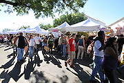 Crowds and exhibitor booths at 4th Avenue Street Fair in Tucson, Arizona. Event photography by Martha Retallick.