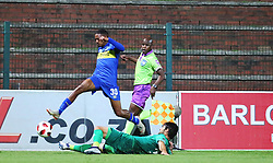 23102018 (Durban) Cape Town City player Martin Graig tackling for a ball with Amazulu Player Marc Van Heerden during the first round of the Telkom Knockout concludes on Tuesday night when Amazulu host MTN8 Cup winners Cape Town City at the King Zwelithini stadium.<br /> Picture: Motshwari Mofokeng/African News Agency (ANA)