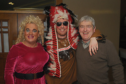 Dolly Parton aka Brendan Mulroy, James and Michael O&rsquo;Donnell  at Westport United&rsquo;s &lsquo;Stars in their Eyes&rsquo; on friday night last.<br />