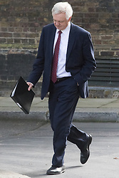Downing Street, London, September 13th 2016. Secretary of State for Exiting the European Union David Davis arrives for the weekly cabinet meeting at Downing Street.