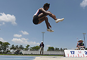 Jun 23, 2019; Miramar, FL, USA; Bryanna Craig jumps 16-11 1/4 (5.16m) in the heptathlon long jump during the USATF U20 Championships at Ansin Sports Complex. Craig finished fourth in a national high school freshman record 5,094 points.