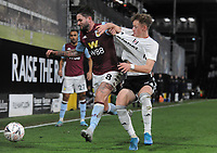 Football - 2019 / 2020 Emirates FA Cup - Third Round:  Fulham vs. Aston Villa<br /> <br /> Henri Lansbury of Aston Villa pulls the shirt of Jay Stansfield of Fulham, at Craven Cottage.<br /> <br /> COLORSPORT/ANDREW COWIE