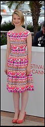 Mia Wasikowska attends the photocall for the film Lawless at the Cannes Film festival, Saturday May 19, 2012. Photo by Andrew Parsons/i-Images.