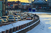 MOSCOW - CIRCA MARCH 2013: Cars in the rush hour in Moscow circa march 2013. With a population of more than 11 million people is one the largest cities in the world and a popular tourist destination.