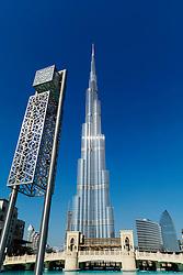 Burj Khalifa tower the tallest skyscraper in the world in Dubai United Arab Emirates