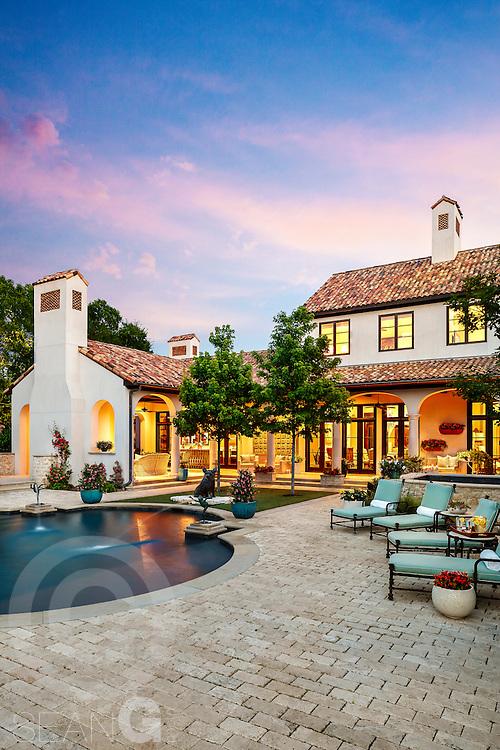 Home exterior, 8545 Midway Rd., Dallas, Texas
