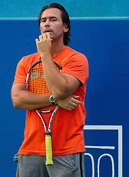 Coach Blaz Trupej of Slovenia during practice session 1 day before tennis tournament ATP Challenger Tilia Slovenia Open 2013 on July 1, 2013 in SRC Marina, Portoroz / Portorose, Slovenia. (Photo by Vid Ponikvar / Sportida.com)