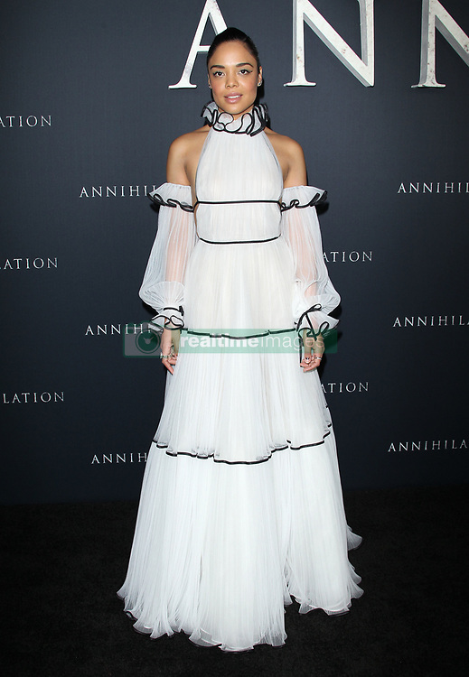 Premiere Of Paramount Pictures Annihilation - Los Angeles. 13 Feb 2018 Pictured: Tessa Thompson. Photo credit: Jaxon / MEGA TheMegaAgency.com +1 888 505 6342