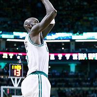 21 December 2012: Boston Celtics power forward Kevin Garnett (5) takes a jumpshot during the Milwaukee Bucks 99-94 overtime victory over the Boston Celtics at the TD Garden, Boston, Massachusetts, USA.