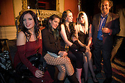 SATANIC SLUTS;  GEORGINA BAILEY; KELLY LYNEE; KATE LOMOX; HAYLEY THOMPSON; ALEXANDER WAUGH. The Literary Review Bad sex in Fiction award 2008. The In and Out Club. 4 St. James Square. London SW1. 25 November 2008. *** Local Caption *** -DO NOT ARCHIVE -Copyright Photograph by Dafydd Jones. 248 Clapham Rd. London SW9 0PZ. Tel 0207 820 0771. www.dafjones.com
