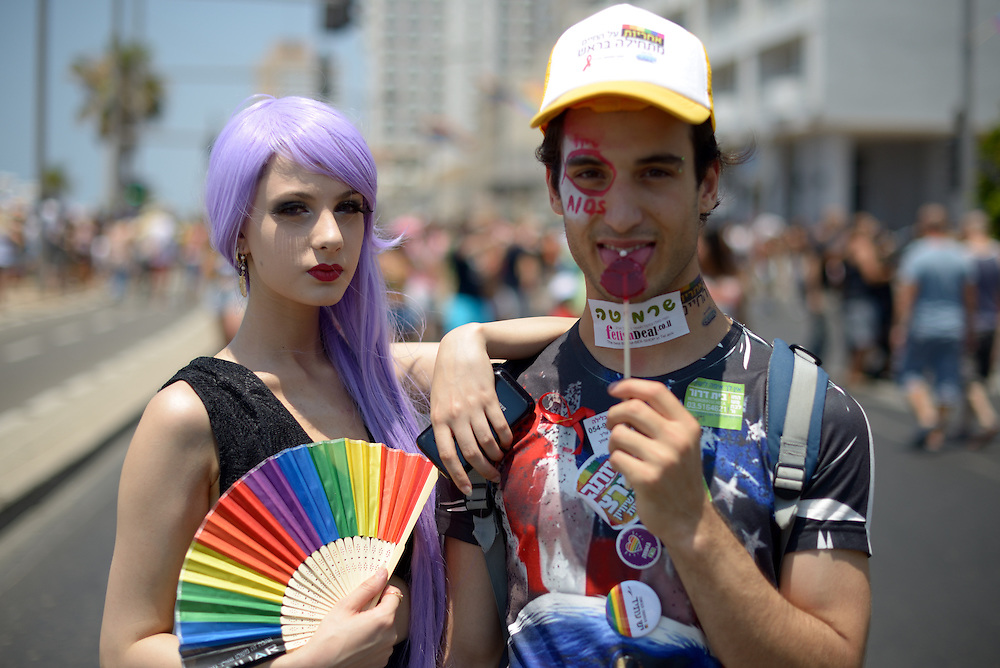 Tel Aviv, Israel - June 13, 2014: Members of the gay comminuty take part in the Annual Gay Pride Parade in Tel Aviv on June 13, 2014. More than 100,000 people took part in the Annual Gay Pride Parade in Tel Aviv. Photo by Gili Yaari