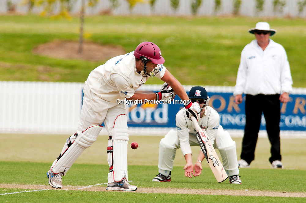 Northern Districts' Brad Wilson batting in the four day Plunket Shield cricket match between Auckland and Northern Districts at Cobham Oval, Whangarei. Tuesday November 8, 2011.<br /> Photo: Malcolm Pullman/Photosport