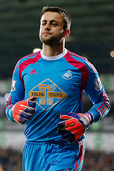 Lukasz Fabianski of Swansea City looks on - Photo mandatory by-line: Rogan Thomson/JMP - 07966 386802 - 11/02/2015 - SPORT - FOOTBALL - West Bromwich, England - The Hawthorns - West Bromwich Albion v Swansea City - Barclays Premier League.
