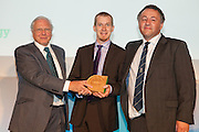 David Attenborough presents the award to Andrew Dawson & Garry Battle of Suffolk County Council