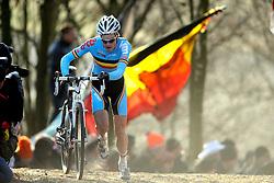 01-02-2009 VELDRIJDEN: WK MANNEN: HOOGERHEIDE<br /> Niels Albert BEL wordt wereldkampioen veldrijden<br /> ©2009-WWW.FOTOHOOGENDOORN.NL