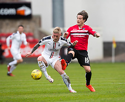 Falkirk's Craig Sibbald and Dunfermline's Rhys McCabe. Dunfermline 1 v 2 Falkirk, Scottish Championship game played 22/4/2017 at Dunfermline's home ground, East End Park.
