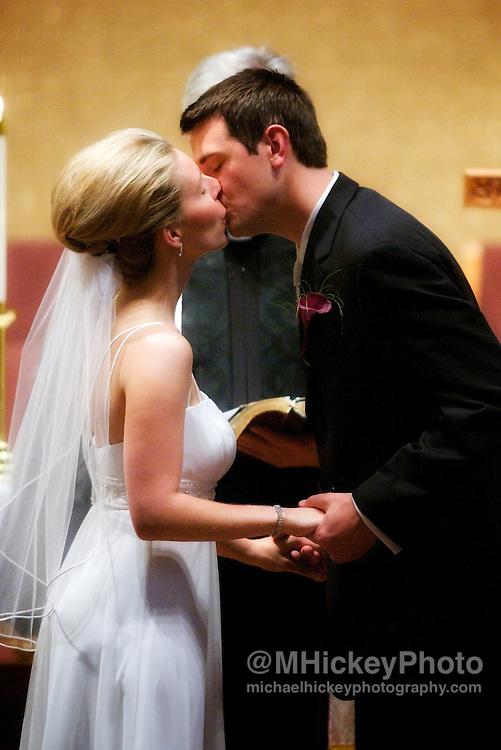 Wedding of Roxanne Allen and Justin Schneider in East Lansing, Michigan.