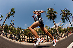 Ben Moreau of Great Britain competes in the Mens Marathon during day six of the 20th European Athletics Championships at the roads of city Barcelona on August 1, 2010 in Barcelona, Spain. (Photo by Vid Ponikvar / Sportida)