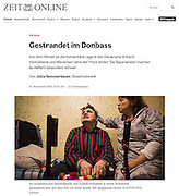 Zeit Online (Germany) - Internally Displaced Persons in Donbas