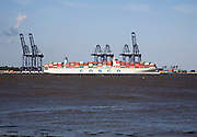 Cosco container ship Port of Felixstowe, Suffolk, England