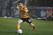 Crewe Alexandra midfielder Tom Lowery in action during the EFL Sky Bet League 2 match between Macclesfield Town and Crewe Alexandra at Moss Rose, Macclesfield, United Kingdom on 21 January 2020.