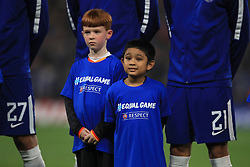 Young Chelsea mascots weat equal game, respect t-shirts