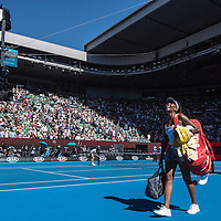 Venus Williams of the United States on day eleven of the 2017 Australian Open at Melbourne Park on January 26, 2017 in Melbourne, Australia.<br /> (Ben Solomon/Tennis Australia)