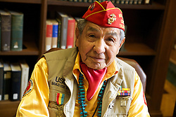 WWII Navajo Code Talker Peter MacDonald, Sr. (USMC, 6th Marine Division, and Former Chairman, The Navajo Nation)