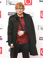 Ed Sheeran, The Q Awards 2017 - Red Carpet Arrivals, Roundhouse, London UK, 18 October 2017, Photo by Brett D. Cove