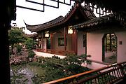 Building at Dr. Sun Yat-Sen Chinese Garden, Vancouver, British Columbia, Canada