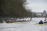 London. UNITED KINGDOM.  Oxford University BC vs German Crew. Varsity Fixture before the 159th BNY Mellon Boat Race on the Championship Course, River Thames, Putney/Mortlake.  Sunday  17/03/2013    [Mandatory Credit. Intersport Images], Oxford from Bow, Patrick Close, Geordie Macleod, Alex Davidson, Sam O'Connor, Paul Bennett, Karl Hudspith, Constantine Louloudis, Malcolm Howard and Cox Oskar Zorrilla. Germany from Bow, Toni Seifert 2012 M4-, Felix Wimberger 2012 U23 M8+, Maximilian Reinelt 2012 M8+, Felix Drahotta 2012 M2-, Anton Braun 2012 M2-, Kristof Wilke 2012 M8+, Richard Schmidt 2012 M8+, Eric Johannesen 2012 M8+ and Cox Martin Sauer 2012 M8+..Germany drawing level with Oxford
