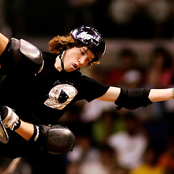 Shaun White of Carlsbad,Calif.,had a great day as he finshed 2nd in the Skateboard Vert Men's Final. The Eleventh X Games at the Staple Center in Los Angeles,Calif., August 5. 2005. <br /> (Pasadena Star-News Staff Photo Keith Birmingham/SXSports)