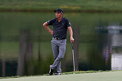 August 12, 2017 - Charlotte, North Carolina, United States - Rickie Fowler waits to putt the 17th green during the third round of the 99th PGA Championship at Quail Hollow Club. (Credit Image: © Debby Wong via ZUMA Wire)