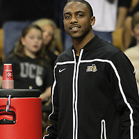 Jeff Jordan watches play from the bench during a Conference USA NCAA basketball game between the Marshall Thundering Herd and the Central Florida Knights at the UCF Arena on January 5, 2011 in Orlando, Florida. Central Florida won the game 65-58 and extended their record to 14-0.  (AP Photo/Alex Menendez)