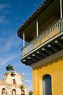 The Iglesia Parroquial de la Santisima Trinidad, and the Casa de Aldeman Ortiz in UNESCO World Heritage Site of Trinidad, Cuba