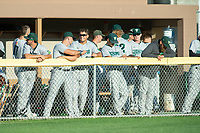 KELOWNA, BC - JULY 24:  The Yakima Valley Pippins stand in the dugout against the the Kelowna Falcons at Elks Stadium on July 24, 2019 in Kelowna, Canada. (Photo by Marissa Baecker/Shoot the Breeze)