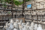 Milan, La Veneranda Fabbrica del Duomo. this is the place where deteriored parts of the Milan Duomo are stocked and remade as new by local artisan. what is called the cemetery of the staues