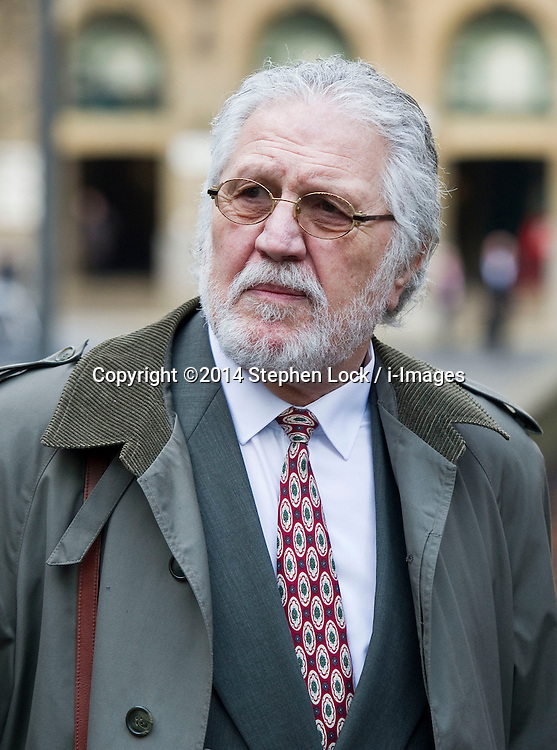 Dave Lee Travis arriving at Southwark Crown Court as his trial continues,  Wednesday, 5th February 2014. Picture by Stephen Lock / i-Images