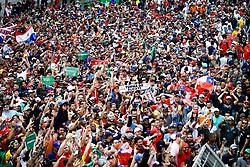 November 17, 2019, SãO Paulo, Brazil: SÃO PAULO, SP - 17.11.2019: GRANDE PRÊMIO DO BRASIL F1 2019 - It takes place this Sunday (17), at the Interlagos racetrack, south of the city of Sao Paulo, another Grand Prix of Brazil F1 2019. The driver Lewis Hamilton of Mercedes has already been champion of this season. In the photo, fans celebrate the victory of Red Bull Racing Honda rider Max Verstappen. (Credit Image: © Aloisio Mauricio/Fotoarena via ZUMA Press)