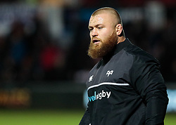Ospreys' Dimitri Arhip during the pre match warm up<br /> <br /> Photographer Simon King/Replay Images<br /> <br /> Guinness Pro14 Round 12 - Dragons v Cardiff Blues - Sunday 31st December 2017 - Rodney Parade - Newport<br /> <br /> World Copyright © 2017 Replay Images. All rights reserved. info@replayimages.co.uk - http://replayimages.co.uk