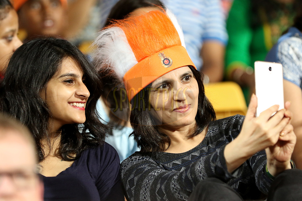 Fans taking selfie during match 5 of the Vivo 2017 Indian Premier League between the Royal Challengers Bangalore and the Delhi Daredevils held at the M.Chinnaswamy Stadium in Bangalore, India on the 8th April 2017<br /> <br /> Photo by Faheem Hussain - IPL - Sportzpics