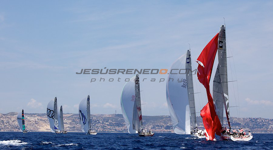 Audi Medcup circuit 2011,Marseille,second day of racing,all4one breaks her gennaker.